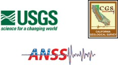 USGS, CGS, and ANSS logos